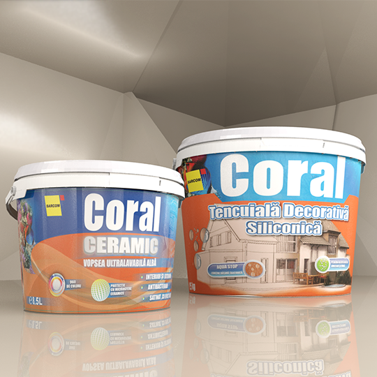 Tencuiala Decorativa Sticky.Sticky Si Coral Design De Ambalaj Vopsea Lavabila New Elite