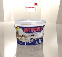 Sticky si Coral -design de ambalaj vopsea lavabila